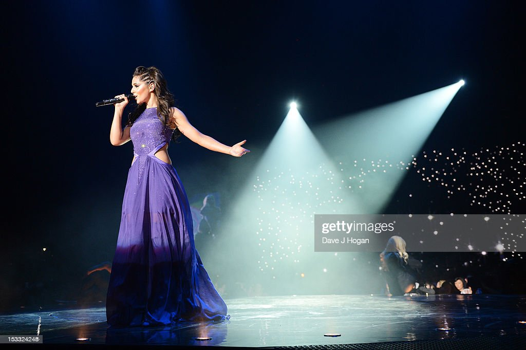. Cheryl Cole performs on the opening night of her 'A Million Lights' tour at The Odyssey Arena on October 3, 2012 in Belfast, Northern Ireland.