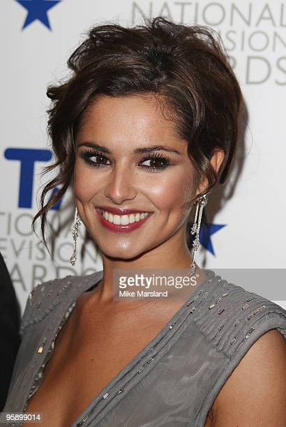 Cheryl Cole poses backstage after XFactor wins the award for Most Popular Talent Show during the 15th National Television Awards held at the O2 Arena...