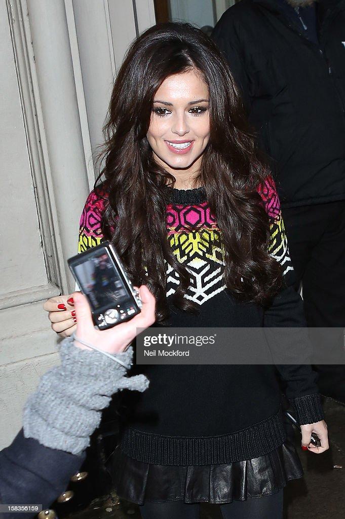Cheryl Cole seen at BBC Maida Vale Studios on December 14, 2012 in London, England.