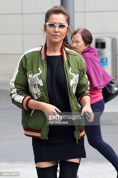 Cheryl Cole seen leaving Jamie's Italian Restaurant at Westfield after taking part in Food Revolution on May 20 2016 in London England