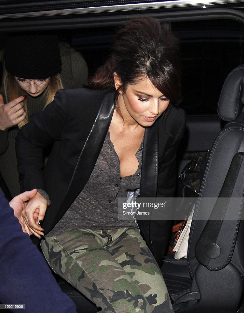 Cheryl Cole sighting at BBC Radio One on November 12, 2012 in London, England.