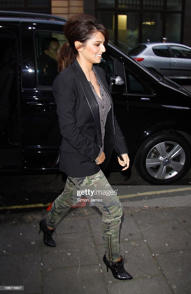 Cheryl Cole sighting at BBC Radio One on November 12, 2012 in London, England.