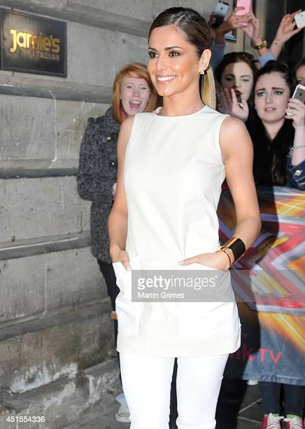 Cheryl Cole sighting at the XFactor auditions on July 1 2014 in Edinburgh Scotland