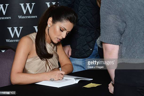 Cheryl Cole signs copies of her book 'My Story' ahead of christmas at The Corinthia Hotel on December 1 2012 in London England