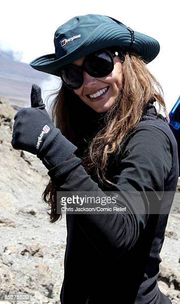 Cheryl Cole treks on day six of the BT Red Nose Climb of Kilimanjaro on March 5 2009 near Arusha Tanzania Celebrities Ronan Keating Gary Barlow Chris...