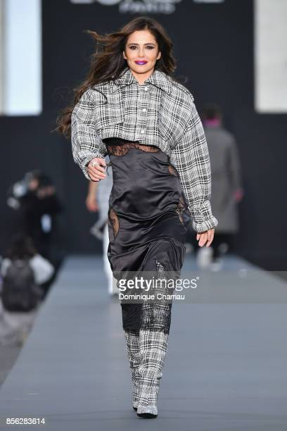 Cheryl Cole walks the runway during the Le Defile L'Oreal Paris show as part of the Paris Fashion Week Womenswear Spring/Summer 2018 on October 1...