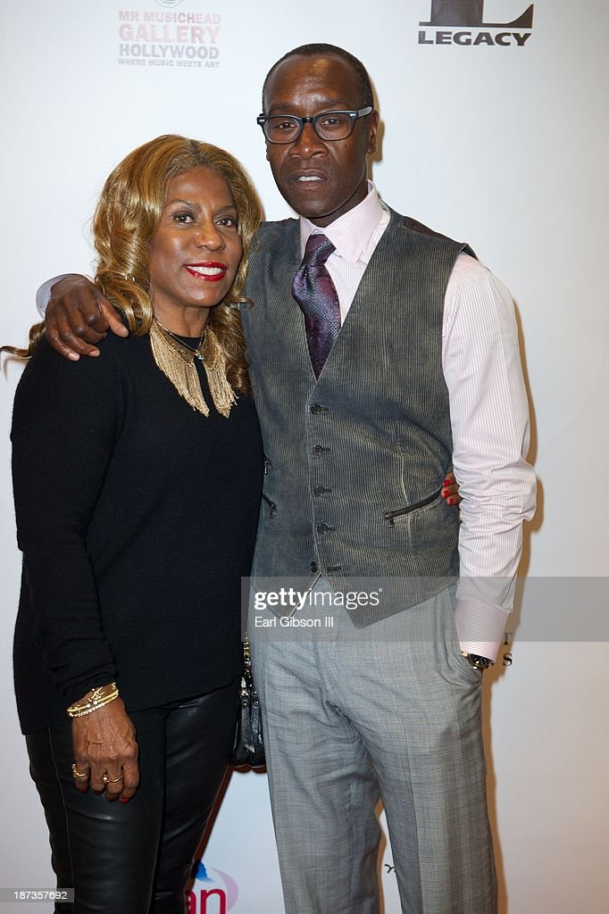 Cheryl Davis and Actor <a gi-track='captionPersonalityLinkClicked' href=/galleries/search?phrase=Don+Cheadle&family=editorial&specificpeople=202096 ng-click='$event.stopPropagation()'>Don Cheadle</a> attend the 'Miles Davis: The Collected Artwork' Launch Party at Mr. Musichead Gallery on November 7, 2013 in Los Angeles, California.