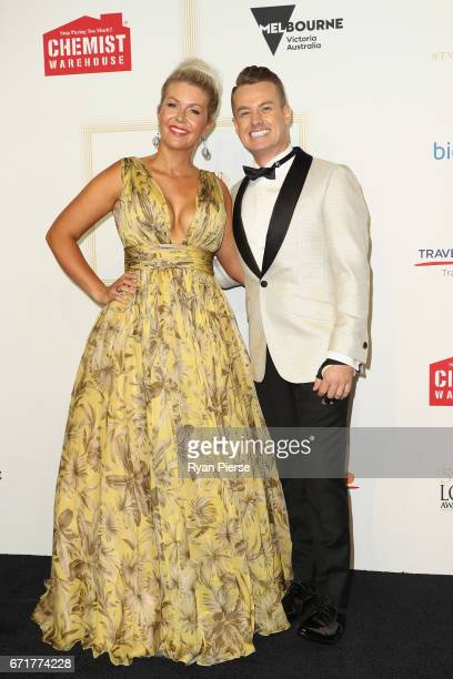 Cheryl Denyer and Grant Denyer arrives at the 59th Annual Logie Awards at Crown Palladium on April 23 2017 in Melbourne Australia