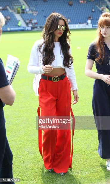 Cheryl during the #GAME4GRENFELL at Loftus Road on September 2 2017 in London England The charity football match has been set up to benefit those who...
