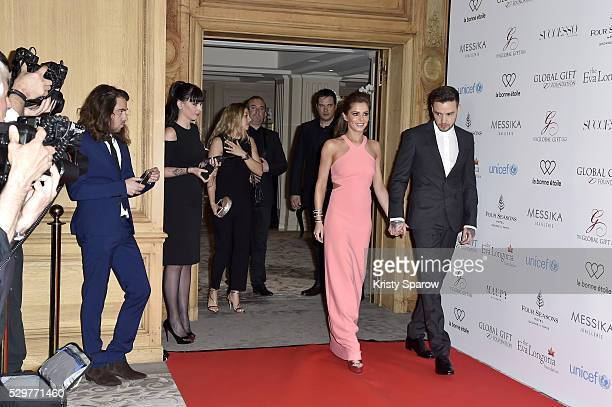 Cheryl FernandezVersini and Liam Payne arrive to the Global Gift Gala Photocall at the Hotel Georges V on May 09 2016 in Paris France