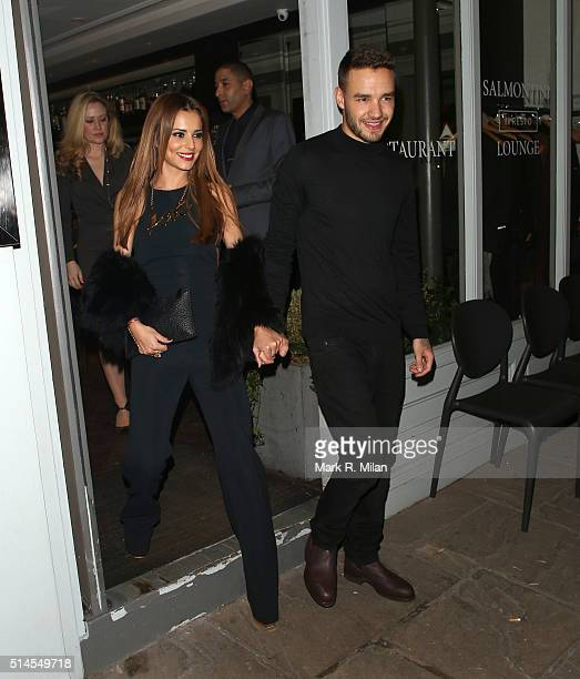 Cheryl FernandezVersini and Liam Payne at Salmontini restarant on March 9 2016 in London England
