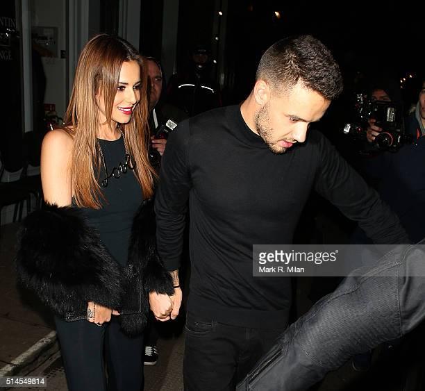 Cheryl FernandezVersini and Liam Payne at Salmontini restarant on March 9 2016 in London England