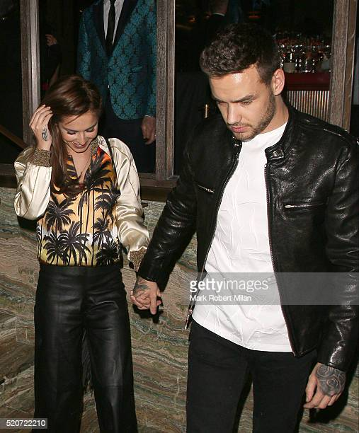 Cheryl FernandezVersini and Liam Payne at Sexy Fish restaurant on April 12 2016 in London England