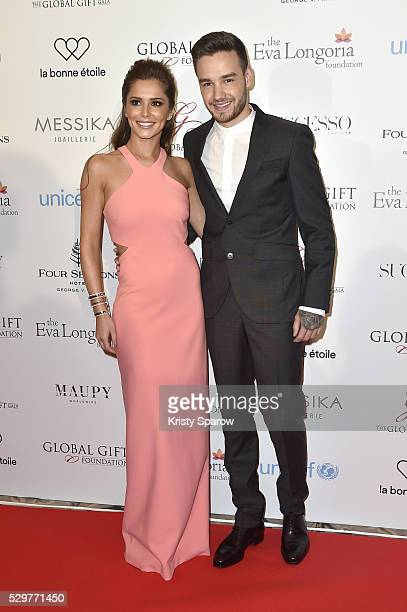 Cheryl FernandezVersini and Liam Payne attend the Global Gift Gala Photocall at the Hotel Georges V on May 09 2016 in Paris France