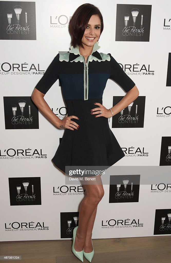 Cheryl FernandezVersini arrives for her judging role at L'Oreal Paris' makeup artist competition 'The Brush Contest' at the Mondrian Hotel on March...