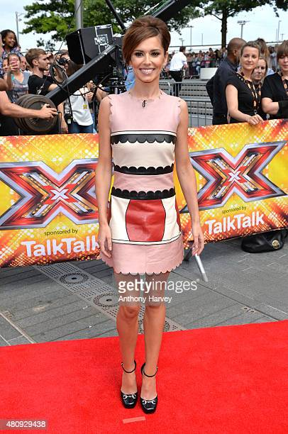 Cheryl FernandezVersini attends the London auditions of The X Factor at SSE Arena on July 16 2015 in London England
