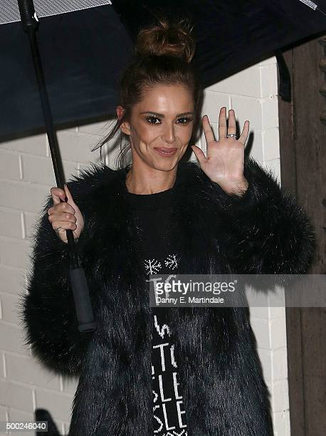 Cheryl FernandezVersini is seen leaving Fountain studios after the X Factor semi final on December 6 2015 in London England