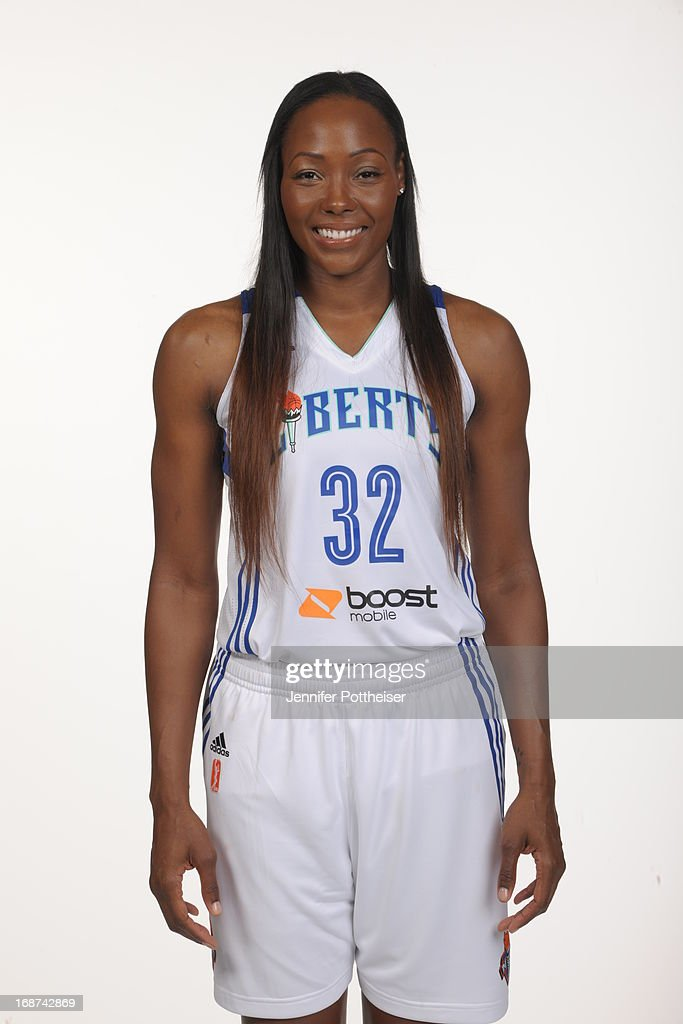 Cheryl Ford #32 of the New York Liberty poses for a photo during WNBA Media Day on May 13, 2013 at the Madison Square Garden Training Facility in Tarrytown, New York.