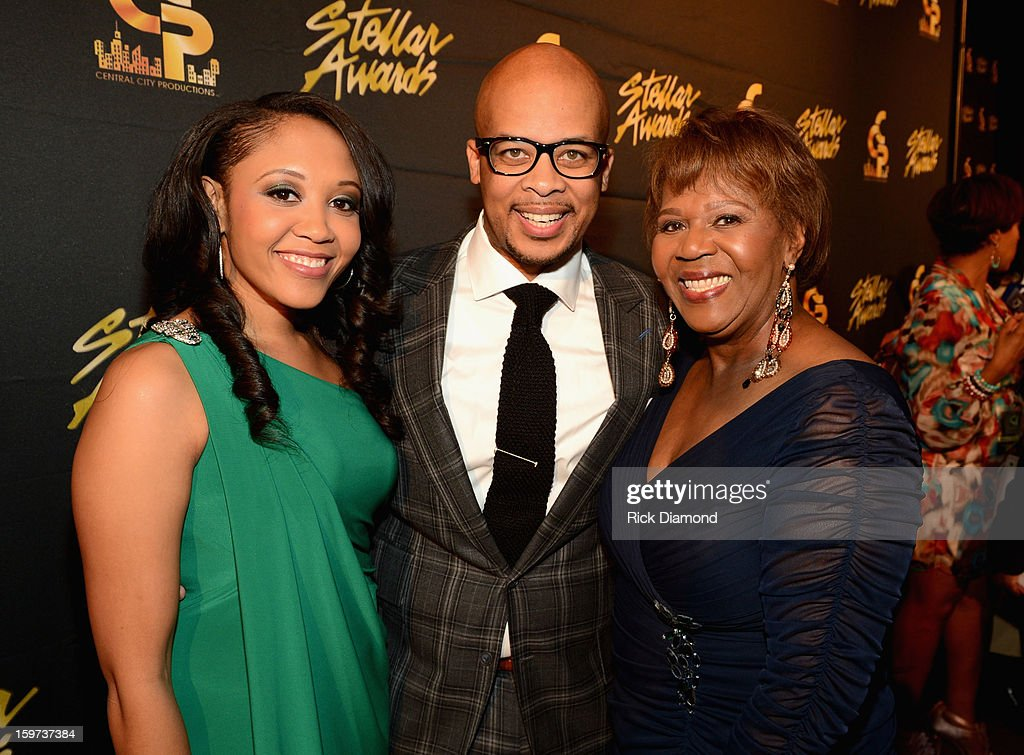 Cheryl Fortune, James Fortune, and Central City Productions President & COO Erma Davis arrive at the 28th Annual Stellar Awards Red Carpet at Grand Ole Opry House on January 19, 2013 in Nashville, Tennessee.