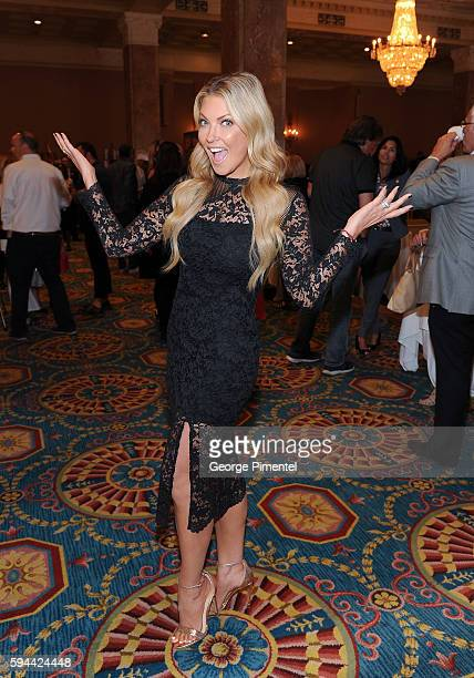 Cheryl Hickey Host Entertainment Tonight Canada attends the Canada's Walk Of Fame Inductee Press Conference at The Fairmont Royal York Hotel on...