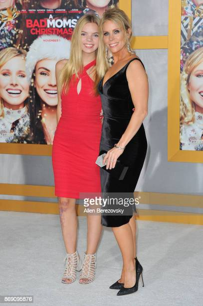 Cheryl Hines and daughter Catherine Rose Young attend the premiere of STX Entertainment's 'A Bad Moms Christmas' at Regency Village Theatre on...