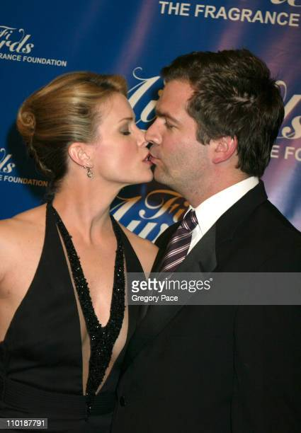 Cheryl Hines and husband Paul Young during The Fragrance Foundation's 32nd Annual 'Fifi' Awards Arrivals at Hammerstein Ballroom in New York City New...