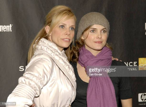 Cheryl Hines and Keri Russell during 2007 Sundance Film Festival 'Waitress' Premiere at Eccles in Park City Utah United States