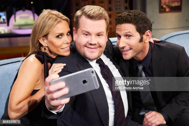 Cheryl Hines and Mark Feuerstein chat with James Corden during 'The Late Late Show with James Corden' Wednesday October 4 2017 On The CBS Television...