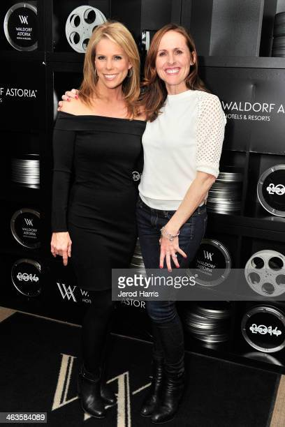 Cheryl Hines and Molly Shannon attend Waldorf Astoria Hosts 'Life After Beth' Cast Dinner at Sundance Film Festival on January 18 2014 in Park City...
