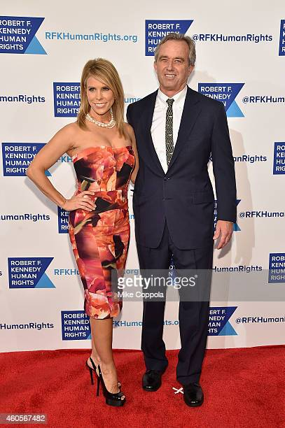 Cheryl Hines and Robert F Kennedy Jr attend the RFK Ripple Of Hope Gala at Hilton Hotel Midtown on December 16 2014 in New York City