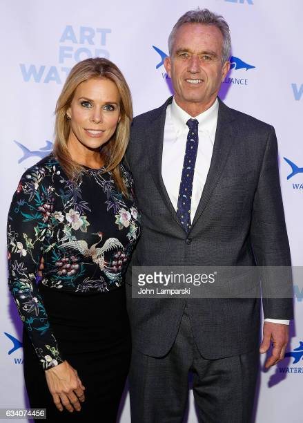 Cheryl Hines and Robert Kennedy Jr attend 2017 Art For Water To Benefit Waterkeeper Alliance at Sotheby's on February 6 2017 in New York City