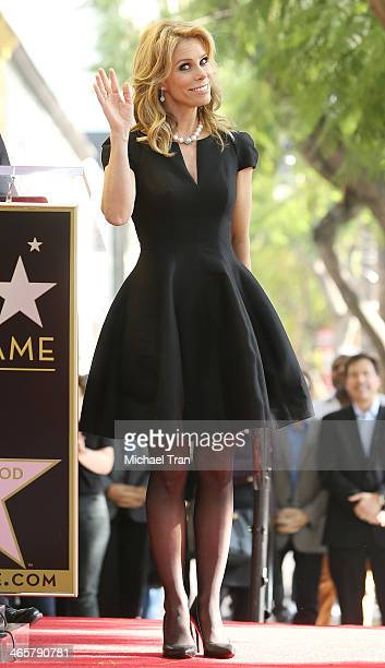 Cheryl Hines attends the ceremony honoring her with a Star on The Hollywood Walk of Fame held on January 29 2014 in Hollywood California