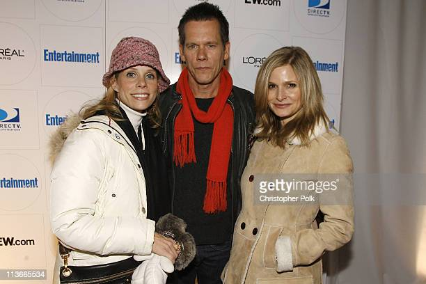 Cheryl Hines Kevin Bacon and Kera Sedgwick during 2007 Sundance Film Festival Entertainment Weekly Party at Jean Louis in the Gateway in Park City...