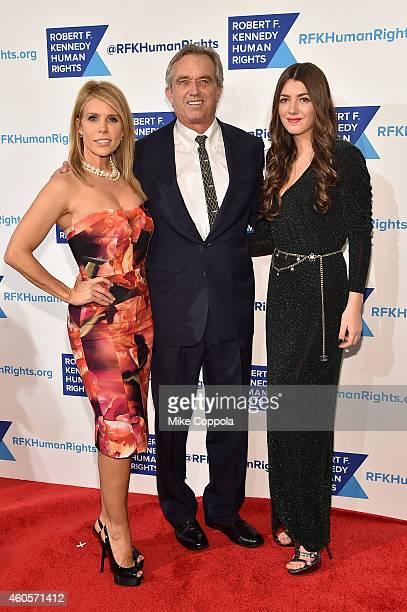 Cheryl Hines Robert F Kennedy Jr and Mariah Kennedy Cuomo attend the RFK Ripple Of Hope Gala at Hilton Hotel Midtown on December 16 2014 in New York...