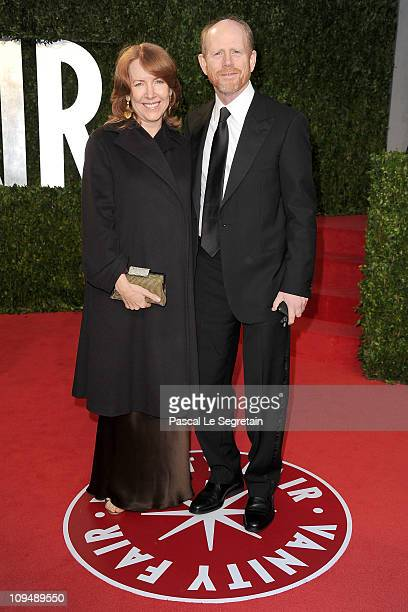 Cheryl Howard and director Ron Howard arrive at the Vanity Fair Oscar party hosted by Graydon Carter held at Sunset Tower on February 27 2011 in West...