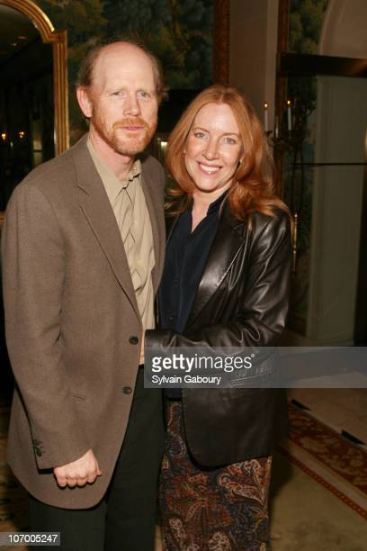 Cheryl Howard and Ron Howard during Harvey Weinstein Hosts a Private Dinner and Screening of 'Bobby' for Senators Obama and Schumer at Plaza Athenee...