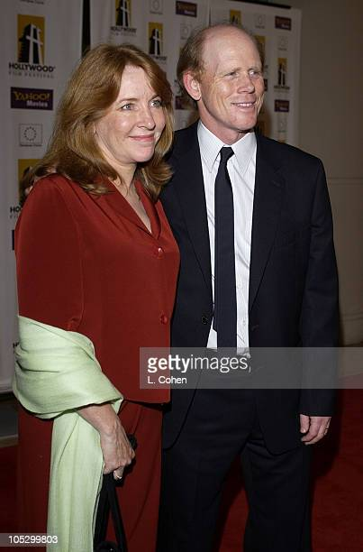 Cheryl Howard Crew and Ron Howard during 2003 Hollywood Awards Gala Ceremony Red Carpet at Beverly Hilton Hotel in Beverly Hills California United...