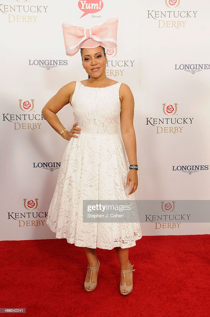 <a gi-track='captionPersonalityLinkClicked' href=/galleries/search?phrase=Cheryl+James&family=editorial&specificpeople=1148224 ng-click='$event.stopPropagation()'>Cheryl James</a> attends 140th Kentucky Derby at Churchill Downs on May 3, 2014 in Louisville, Kentucky.