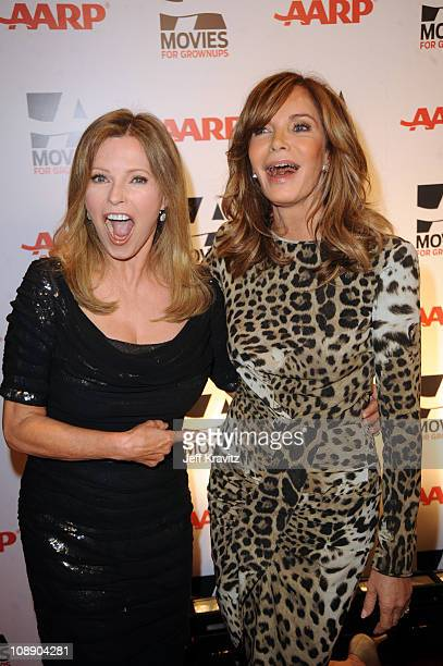 Cheryl Ladd and Jaclyn Smith attends AARP The Magazine's 10th Annual Movies For Grownups Awards at the Beverly Wilshire Four Seasons Hotel on...
