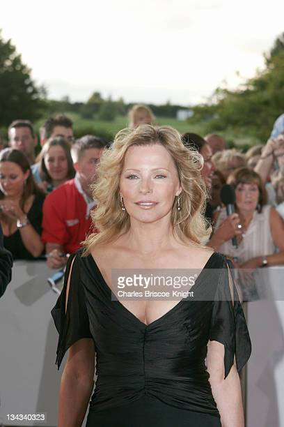 Cheryl Ladd arrives at the All*Star Cup Gala Celtic Manor Roman Road Course Newport Wales