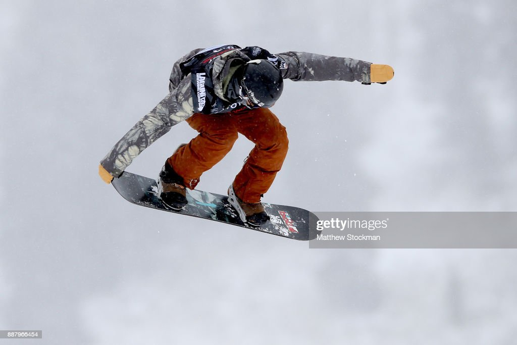 Cheryl Mass #12 of Netherlands trains for the FIS World Cup 2018 Ladies Snowboard Big Air during the Toyota U.S. Grand Prix on December 7, 2017 in Copper Mountain, Colorado.