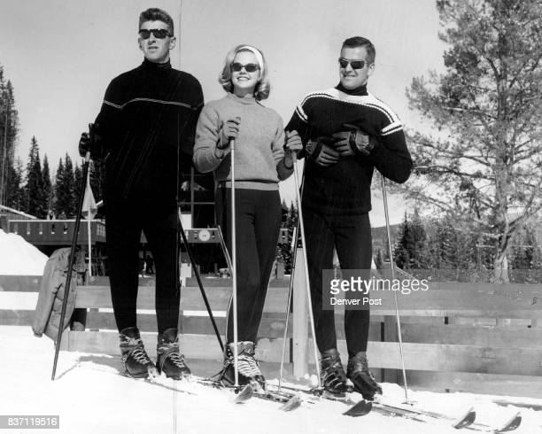 Cheryl on the Slopes Cheryl Sweeten 'Miss Colorado' pauses during a day of skiing at Breckenridge with ski school director Trygve Berge proving her...