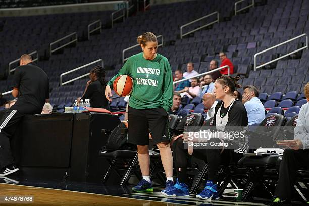 Cheryl Reeve of the Minnesota Lynx stands on the court during a game against the Washington Mystics during an Analytic Scrimmage at the Verizon...