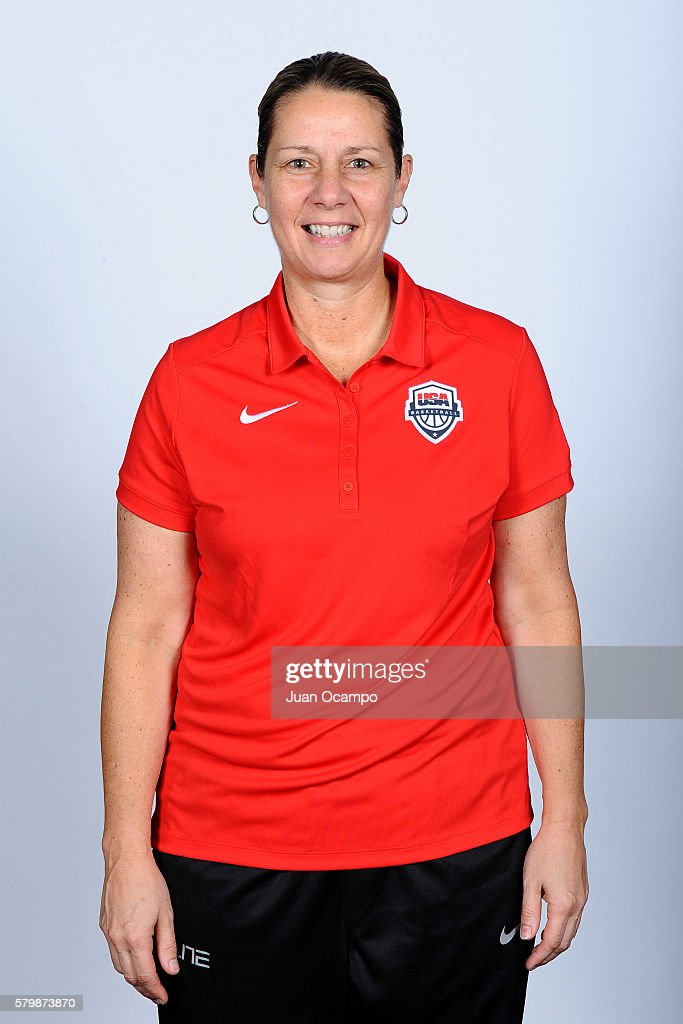 Cheryl Reeve of the USA Women's National Team poses for a portrait during training camp at The Ritz Carlton Marina del Rey in Marina del Rey, California on July 24, 2016.