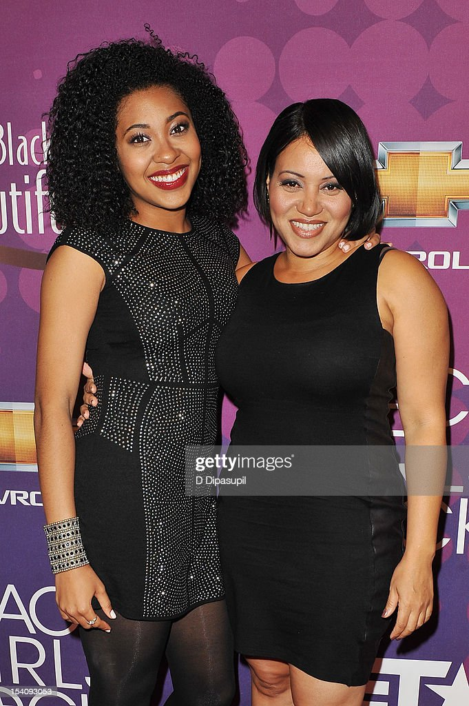 Cheryl 'Salt' James (R) and Corin Wray attend BET's Black Girls Rock 2012 CHEVY Red Carpet at Paradise Theater on October 13, 2012 in New York City.