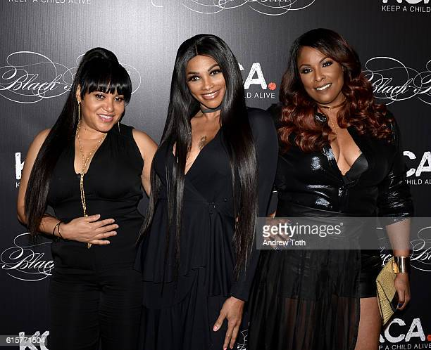 Cheryl 'Salt' James and Sandra 'Pepa' Denton of SaltNPepa and DJ Spinderella attend Keep a Child Alive's 13th annual Black Ball at Hammerstein...