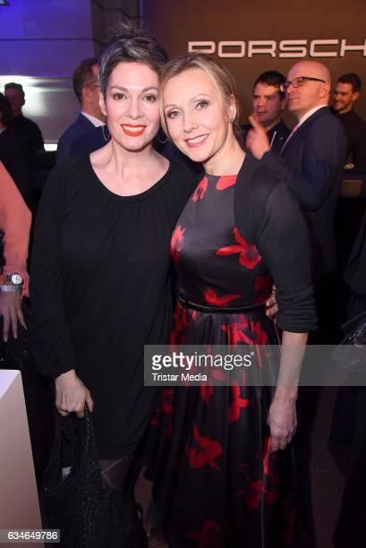 Cheryl Shepard and Dana Golombek attend the Blue Hour Reception hosted by ARD during the 67th Berlinale International Film Festival Berlin on...