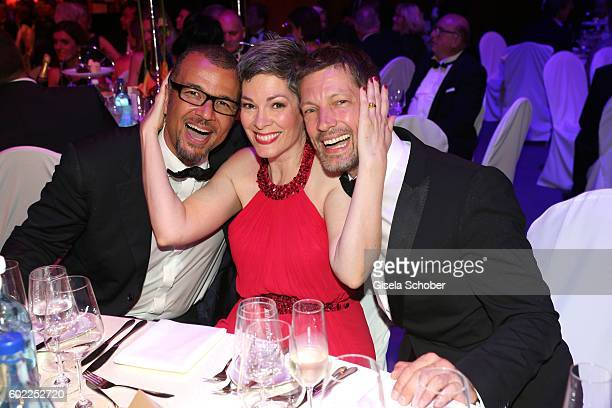 Cheryl Shepard and her partner Nikolaus Okonkwo and Mickey Hardt during the Leipzig Opera Ball 'Let's dance Dutch' at alte Oper on September 10 2016...