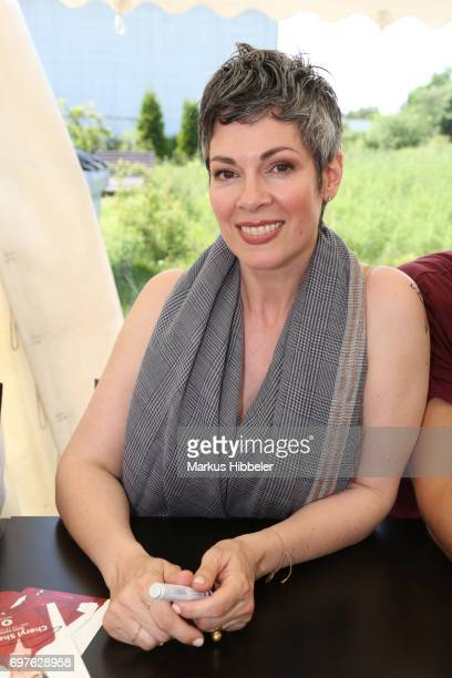 Cheryl Shepard poses during the celebration of 2500 episodes of 'Rote Rosen' on June 18 2017 in Lueneburg Germany