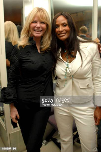 Cheryl Tiegs and Beverly Johnson attend Mayor Antonio Villaraigosa celebrates Nikki Haskell's Birthday at Sierra Towers on May 17th 2010 in West...